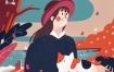 HOHO猴零基础扁平肌理风商业插画课2020年【画质高清有课件】