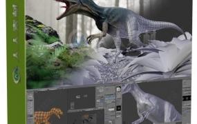 Blender恐龙超完整实例制作视频教程【画质高清有素材】
