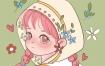 【木丣muyou】ipad少女插画2020年7月【画质高清有笔刷】