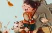 鱼雨桐商业插画国风典藏2020年1月【画质高清有笔刷素材】